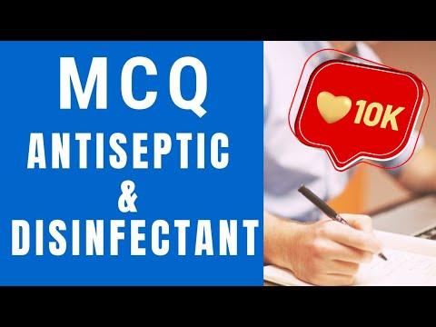 MCQ Antiseptics and Disinfectants, mcq antiseptic and disinfectant, antiseptic and disinfectant mcq