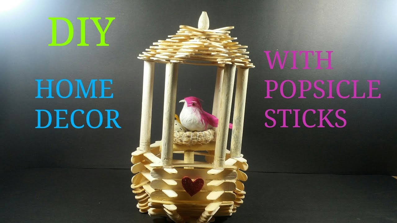 Diy home decor with popsicle sticks how to make cwm 11 for How to make home decorations