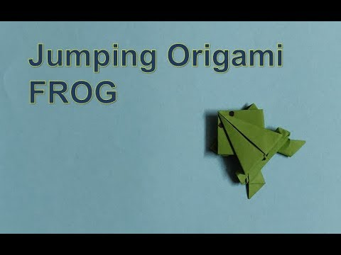 DIY : Jumping Paper Frog Step by Step Tutorial | Easy Origami | Paper Folding #Origami #kidscraft