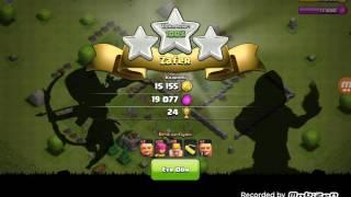 Clash of clans bronz lige çıktım#1.bölüm