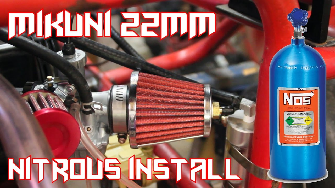 Predator 212 Go Kart Mikuni 22mm Nitrous Nos Install