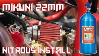 Predator 212 Go Kart Mikuni 22mm Nitrous / Nos Install
