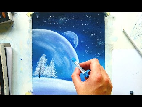 Snowy Landscape Illustration