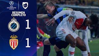 Club Brugge 1-1 Mónaco - GOLES Y RESUMEN - Grupo A UEFA Champions League