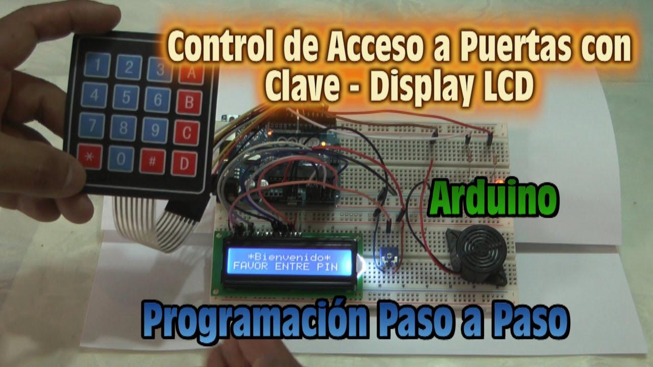 Control de acceso a puertas con clave y display lcd