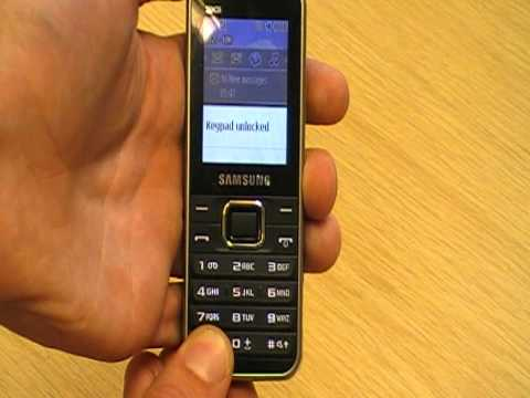 Samsung E3210  取扱い方法―キーパッドロックとロック解除