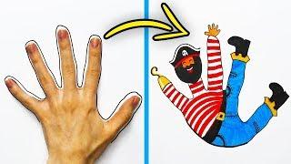 как сделать рисунок руки