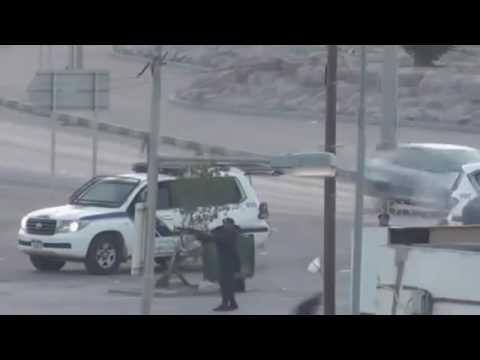 Terrorists Attacked Bahraini Police with Heavy Molotoves   #Bahrain #البحرين #الشرطة   BBN   #Police