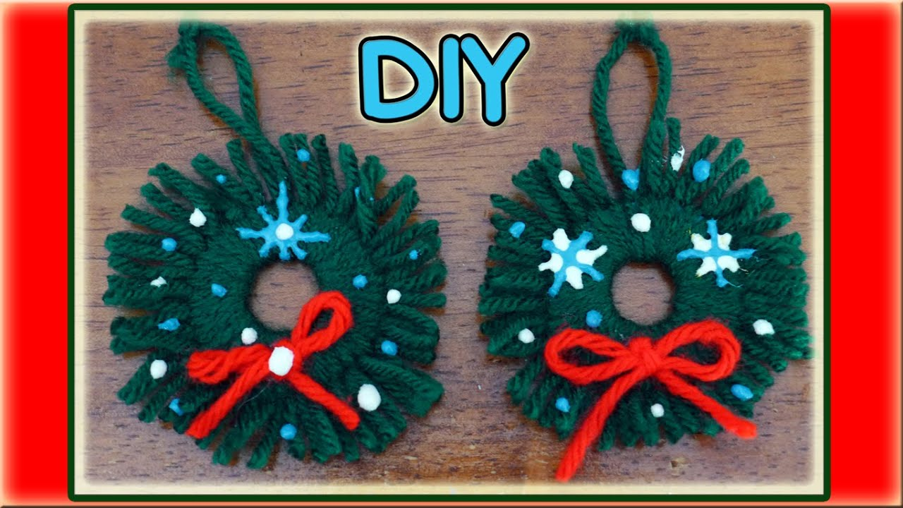 Easy homemade christmas ornaments youtube for Christmas decorations ideas to make at home