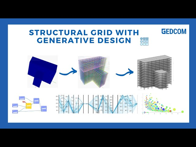 Generative Design to optimize Structural Grid from Form