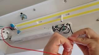 형광등 조명을 LED 조명으로 바꾸는 방법 How to…
