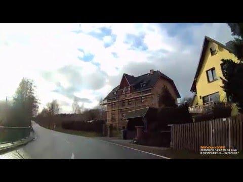 D: Gemeinde Triebel/Vogtl.. Vogtlandkreis. Ortsdurchfahrt. Februar 2016