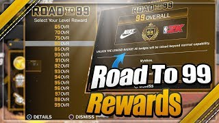 All Of The Rewards You Unlock From Overall 65-99 In NBA 2K18!
