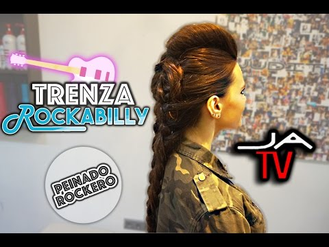 PEINADO ROCKERO ► Trenza Rockabilly / Rockabilly Braid ● Rock n Roll hairstyle ● For Women