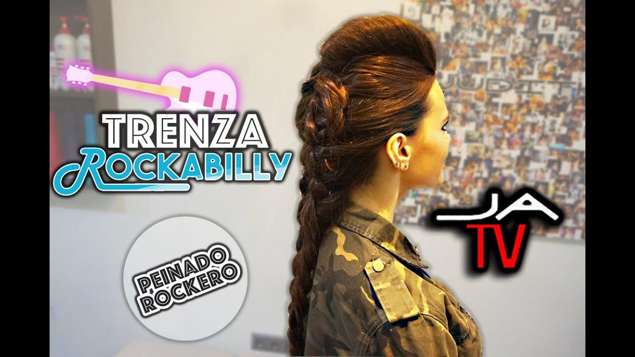Impresionante peinados de rockera Fotos de ideas de color de pelo - PEINADO ROCKERO Trenza Rockabilly / Rockabilly Braid Rock ...
