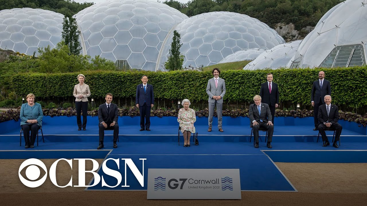 President Biden meets with world leaders at first G7 summit