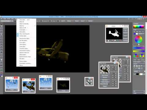 multiple Ospreys - compositing with Custom brush or with Swap image