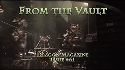 From the Vault: Dragon Magazine Issue 61 - old school roleplaying
