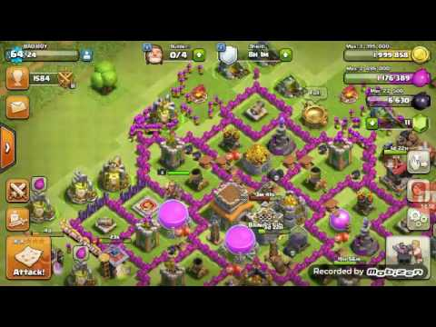 Clash of clans:- archer and barbarians attack strategy on th8