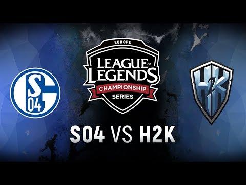 S04 vs. H2K - Week 9 Day 1 | EU LCS Spring Split |  FC Schalke 04 vs. H2k-Gaming (2018)