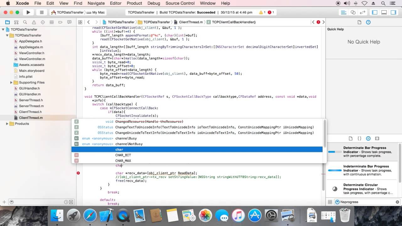 Large File Transfer using Objective-C(XCode)