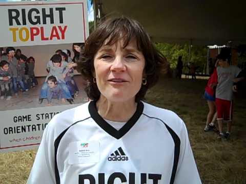 Speedskater Olympian, Bonnie Blair shares at May Play Day 2011