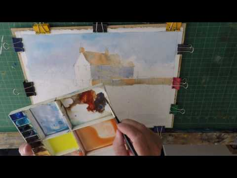 Watercolour Step by Step Tutorial Waterside cottage