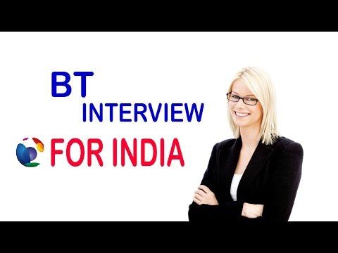 BT interview process