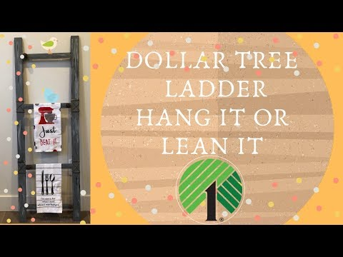 Dollar Tree Ladder DIY