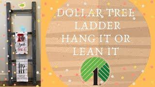 Dollar Tree Ladder DIY