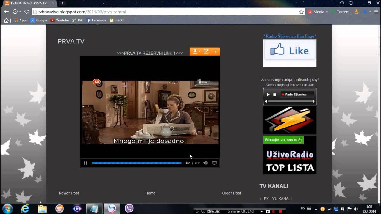 Kako gledati TV uzivo preko Interneta(besplatno) - YouTube