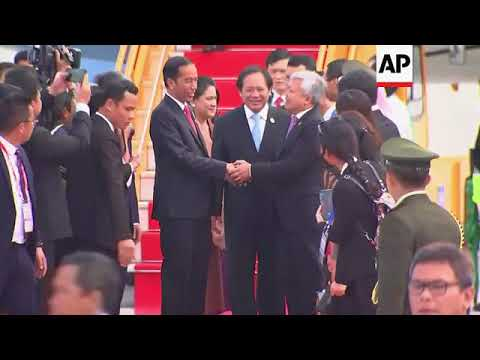 Indonesian president Widodo arrives for APEC summit in Vietnam