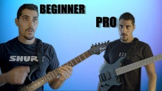 beginner guitarist vs pro guitarist