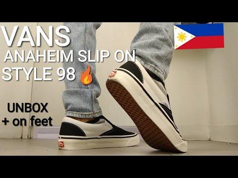 cb216e2df5 VANS ANAHEIM SLIP ON STYLE 98 (Philippines) - YouTube