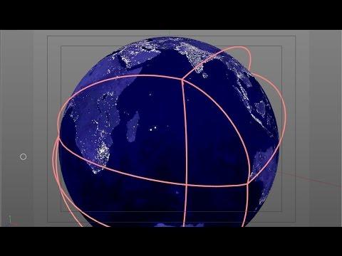 Cinema 4D Flight Path Effect Tutorial on globe animation, globe graphic, globe daily 3,