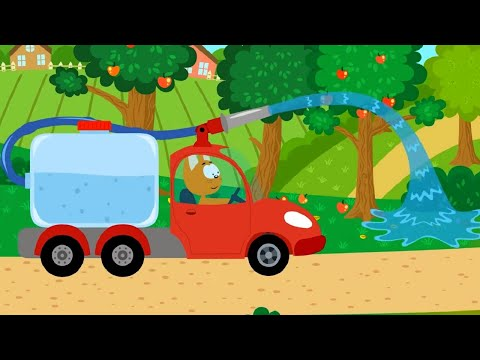 Котенок и волшебный гараж – Поливалка - мультфильм про машинки