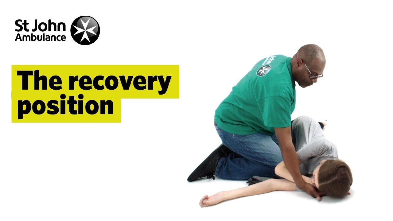 the recovery position first aid training st john ambulance youtube