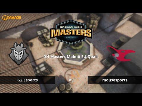 G2 Esports vs. mousesports | DH Masters Malmö 2016 EU Quali. | de_inferno Map 1