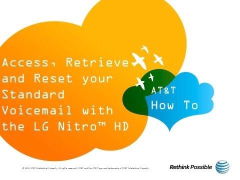 Access Retrieve and Reset your Standard Voicemail with the LG Nitro™ HD: AT&T How To Video Series