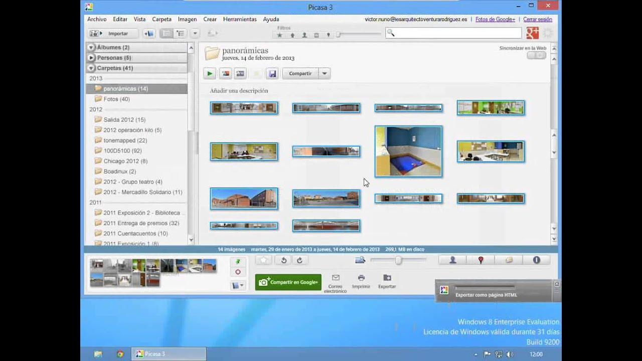 Cómo exportar galería de fotos a web, usando plantillas básicas de ...