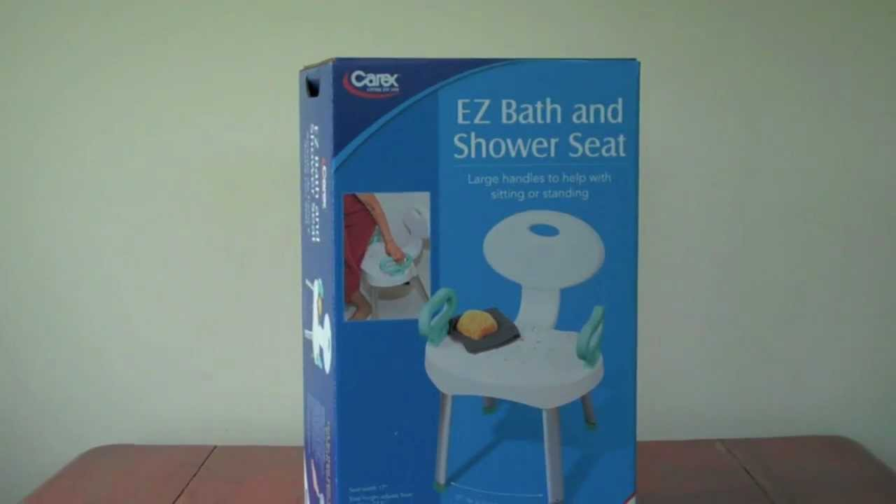 The Carex EZ Bath & Shower Seat B660-00 Assembly - YouTube