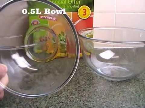 Pyrex Classic Mixing Bowl Set 0.5L/1.0L/2.0L/3.0L 3 Piece unboxing & detailed look