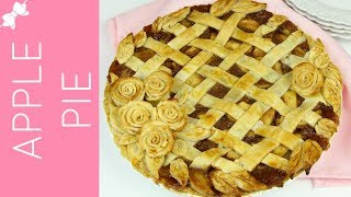 How To Make THE BEST Apple Pie with Diamond Lattice Top and Pie Crust Roses // Lindsay Ann Bakes