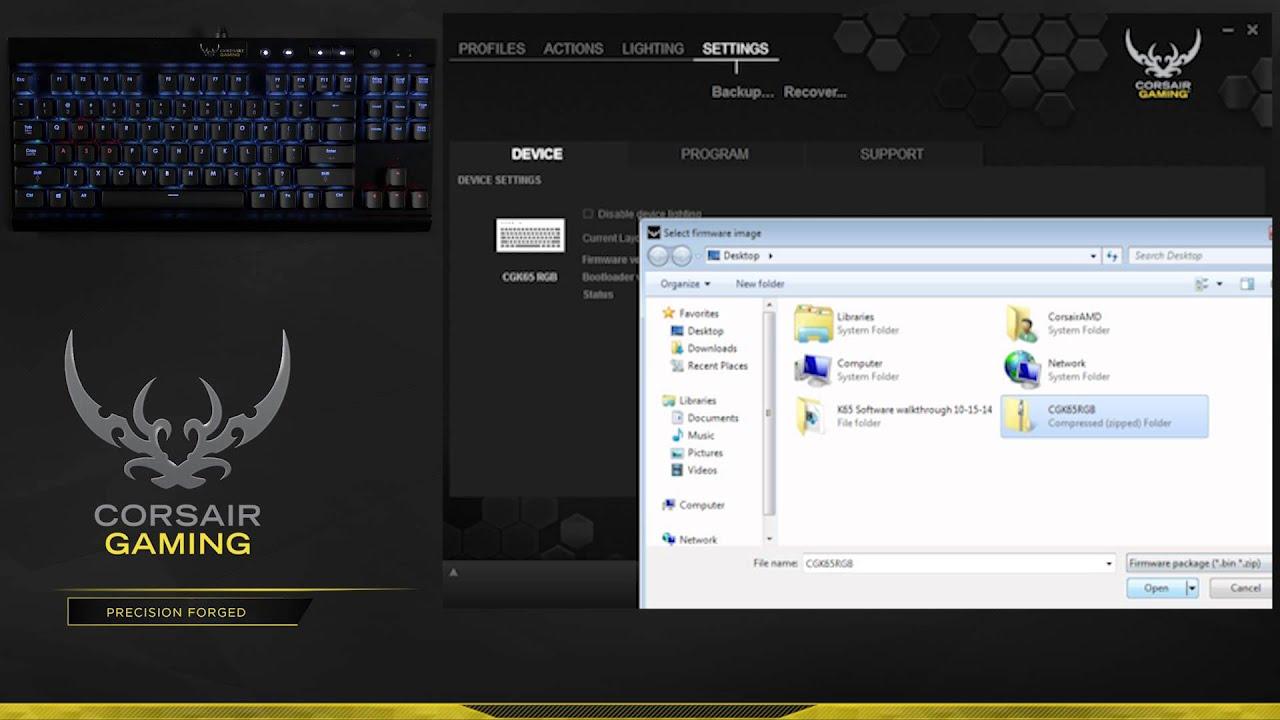 firmware software updater corsair mouse vengeance