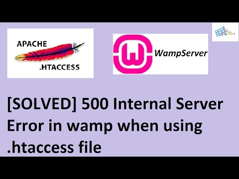 [Solved] 500 Internal Server Error php in wamp due to  htaccess file