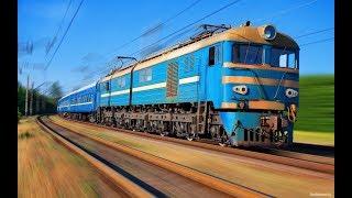 Поезда для детей. Железнодорожный транспорт. Развивающие мультики для детей