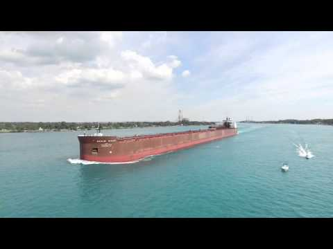 Freighters Down The St. Clair River