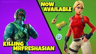 Killing MRFRESHASIAN & LAGUNA Starter Pack Available in Fortnite