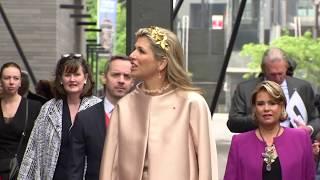 Visite du couple royal néerlandais à Belval