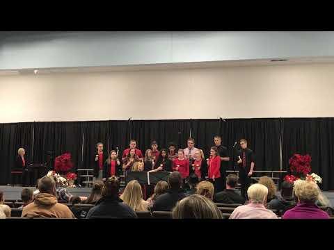 Harlan Christian School- 8th Grade Bell Choir- 12/7/17